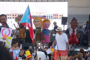 Cabezudos show at San Sebastián Festival